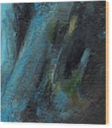 The Blue Roan Wood Print