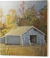 The Blue Shed Wood Print