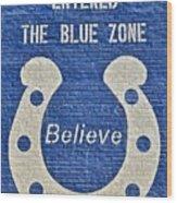 The Blue Zone Wood Print