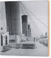 The Boat Deck Of The Titanic Wood Print