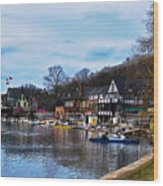 The Boat House Row Wood Print