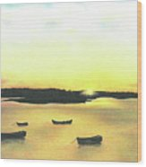 The Boat Launch Wood Print