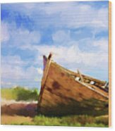 The Boat Wood Print