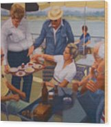 The Boat Party Wood Print by Diane Caudle