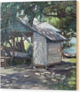 The Boathouse At Historic Spanish Point Park, Osprey, Fl Wood Print