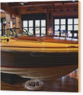 The Boathouse Interior Work 2 Wood Print