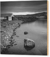 The Boathouse Wood Print