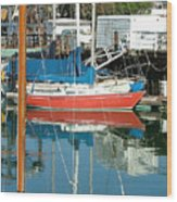 The Boats Of Sausilito Wood Print