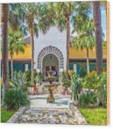 The Bonnet House - Interior Garden Wood Print