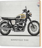 The Bonneville T100 Wood Print