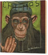 The Book Of Chimps Wood Print