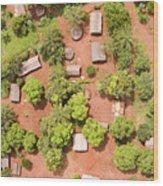 The Border Town Village Of Bangassou Wood Print