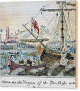 The Boston Tea Party, 1773 Wood Print