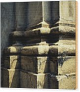 The Bottom Of The Pillar Of The Old Building Wood Print