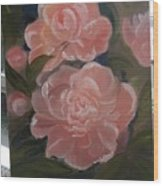 The Bouquet Of Peonies Wood Print