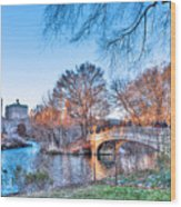 The Bow Bridge In Central Park Wood Print