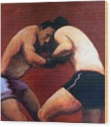 The Boxers Wood Print