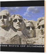 The Boys Of Summer Wood Print