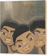 The Boyz In The Hood Wood Print