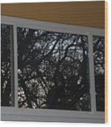 The Branch Window Wood Print