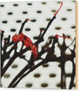 The Branches Naked By Wind And Rain. Wood Print