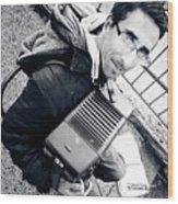 The Brave Accordion Player Wood Print