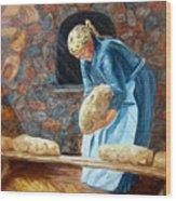 The Breadbaker Wood Print