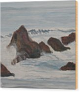 The Breakers At Seal Rock II Wood Print