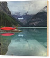 The Breathtakingly Beautiful Lake Louise Banff National Park Wood Print