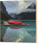 The Breathtakingly Beautiful Lake Louise II Wood Print