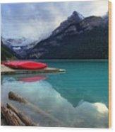 The Breathtakingly Beautiful Lake Louise Iv Wood Print