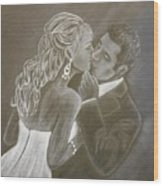 The Bride And Groom Wood Print
