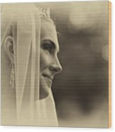 The Bride Example Wood Print