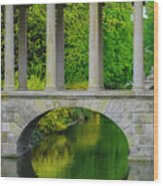 The Bridge Across The Pond Wood Print