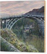 The Bridge Across The Severn Gorge Wood Print