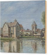 The Bridge And Mills Of Moret Sur Loing Wood Print