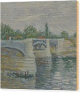The Bridge At Courbevoie Paris, May - July 1887 Vincent Van Gogh 1853  1890 Wood Print