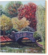 The Bridge At Freedom Park Wood Print