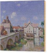 The Bridge At Moret Wood Print