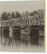 The Bridge At Washingtons Crossing Wood Print by Bill Cannon