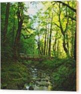 The Bridge At Wyeth  Wood Print
