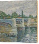 The Bridge Of Courbevoie, Paris Wood Print