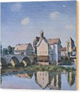 The Bridge Of Moret In The Sunlight Wood Print