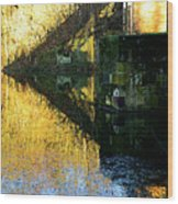The Bridge On The River And Its Shadow. Wood Print