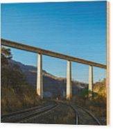 The Bridge Over The Railways Wood Print