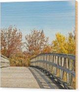 The Bridge To Autumn Wood Print