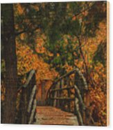 The Bridge Wood Print