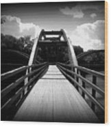 The Bridge Wood Print by Trina Prenzi