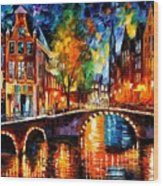 The Bridges Of Amsterdam Wood Print