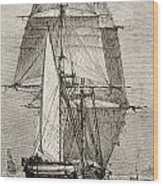 The Brig Hms Beagle From Journal Of Wood Print